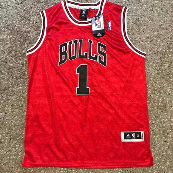sports shoes dd392 08bcd Derrick Rose Adidas NBA Jersey Chicago Bulls